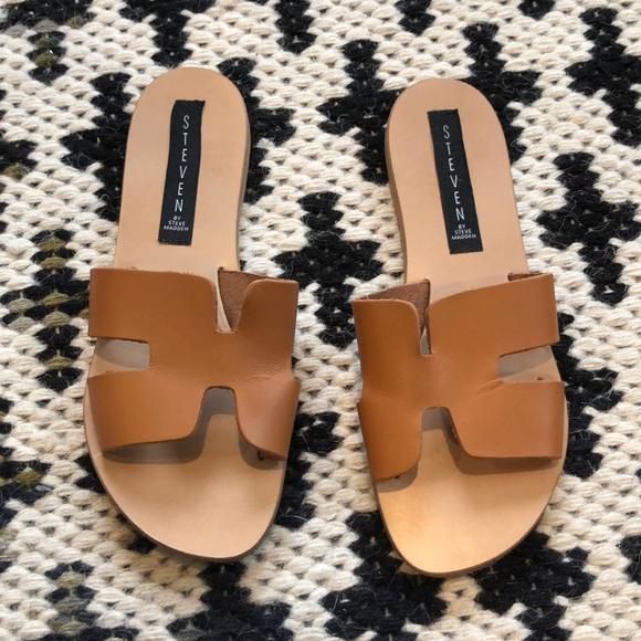 6b51855a75712 Steve Madden Shoes | Steven By Greece Sandal 6 Cognac | Poshmark